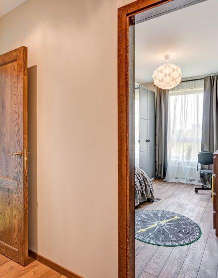 medinės durys ąžuolinės 3481 riešutas D2F Medžio stilius