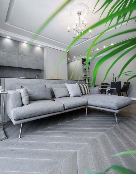 Medinės grindys Chevron eglutė Skaidriai balta Q-3409 Medžio stilius