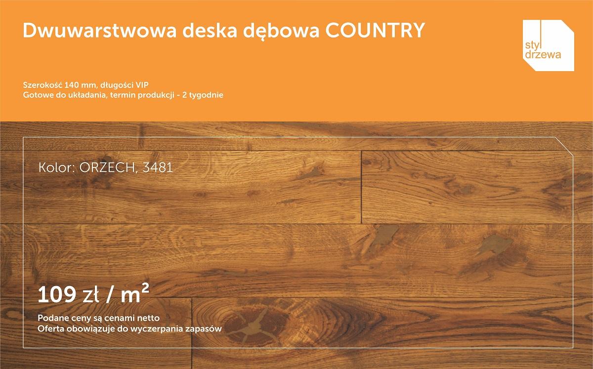 Promocja podloga Country 140 Orzech 3481