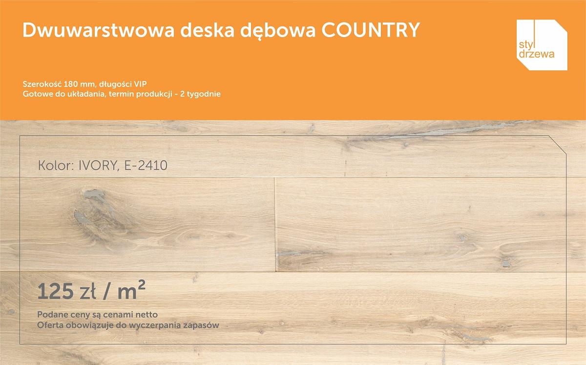 Promocja podloga Country IVORY E-2410