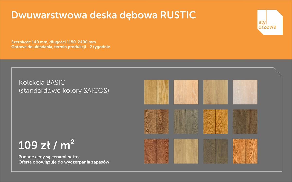 Promocja podloga Rustic 140 kolory SAICOS