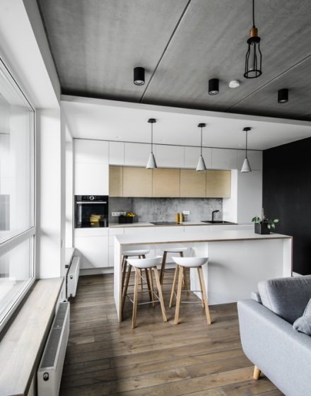 Drewniane podłogi, deko ścianka: kolor Graphite 3477.