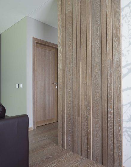 Drewniane dębowe drzwi: modele D1F, D1S, Bezbarwny olej 3305.