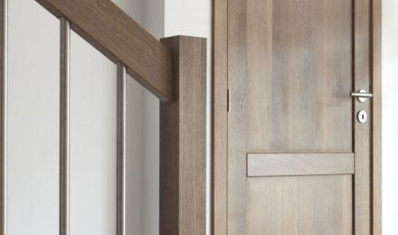 Medinės durys D2F Balta 3408 Medžio stilius