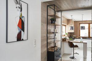 Deski dębowe – wykończenie na podłodze, ścianie i suficie, kolor Nordic
