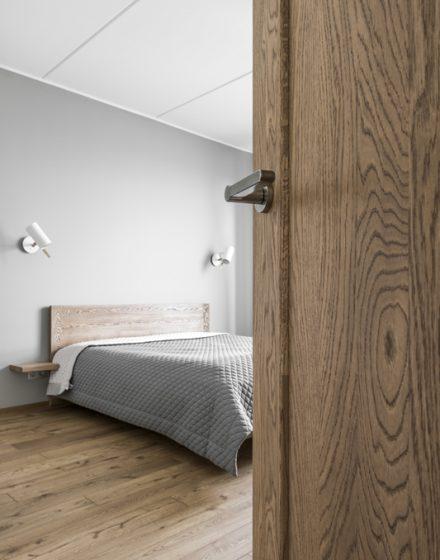 Drewniane dębowe drzwi: modele D2F i D2S, Pure nature P-5200.