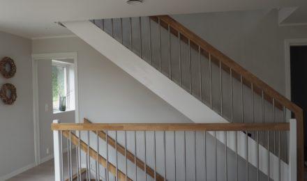 Mediniai ąžuoliniai laiptai I forma Bespalvė alyva 3305 Medžio stilius