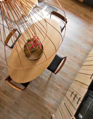 Medinės grindys ąžuolinės 3409 skaidriai balta Medžio stilius